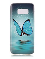cheap -For Samsung Galaxy S8 Plus S8 Case Cover Butterfly Pattern Luminous TPU Material IMD Process Soft Case Phone Case S7 S6 (Edge) S7 S6 S5