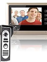 Mountainone 7-дюймовый видеодомофон дверной звонок комплект системы внутренней связи 1-камера 1-монитор ночного видения