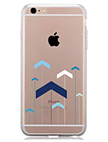 preiswerte -Hülle Für Apple iPhone 7 Plus iPhone 7 Transparent Muster Rückseite Geometrische Muster Weich TPU für iPhone 7 Plus iPhone 7 iPhone 6s