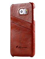 cheap -For Samsung galaxy S7 Case Luxury Oil Wax Genuine Leather Back Phone Cover Case S5 S6 S6 Edge S6 Edge Plus