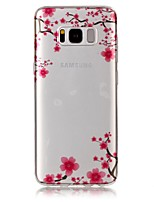 cheap -For Samsung Galaxy S8 Plus S8 Case Cover Plum Blossom Pattern High Permeability TPU Material IMD Craft Phone Case S7 S6 (Edge) S7 S6 S5