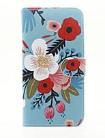 Недорогие -Для Кошелек Бумажник для карт со стендом Флип Кейс для Чехол Кейс для Цветы Твердый Искусственная кожа для AppleiPhone 7 Plus iPhone 7
