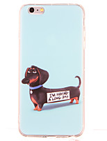 baratos -Para Antichoque Estampada Capinha Capa Traseira Capinha Cachorro Macia TPU para AppleiPhone 6s Plus iPhone 6 Plus iPhone 6s iPhone 6