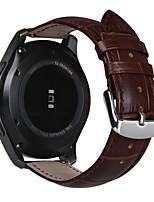 Недорогие -для Samsung Gear s3 классической / границы 22мм натуральной кожи ремешок для часов ремешка