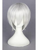 cheap -Short Tokyo Ghoul-Kaneki Ken Silver White 14inch Cosplay Wigs CS-195A