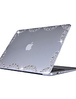 cheap -For MacBook Air 11.6 13.3 Pro 13.3 Case Cover with Pattern Rhinestone PC Hard Protective Shell Matte Transparent