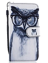 cheap -For Samsung Galaxy A3(2017) A5(2017) Card Holder Wallet with Stand Flip Pattern Case Full Body Case Owl Hard PU Leather A5(2016)