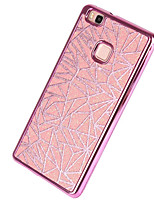 cheap -For Huawei P9 P9 Lite Case Cover Plating Back Cover Glitter Shine Soft TPU P8 P8 Lite Y5 II