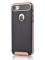 cheap -For Apple iPhone 7 Plus 7 Case Cover Shockproof Back Cover Solid Color Hard Carbon Fiber 6s Plus 6 Plus 6s 6