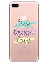 cheap -Case For Apple iPhone X iPhone 8 Transparent Pattern Back Cover Word / Phrase Soft TPU for iPhone X iPhone 8 Plus iPhone 8 iPhone 7 Plus