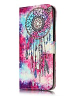 cheap -For Samsung Galaxy S7 S8 Case Cover Dream Catche Pattern Painted Card Holder PU Leather Material Mobile Phone Case S5 S6 S7Edge S6Edge