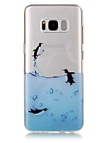 cheap -For Samsung Galaxy S8 Plus S8 Case Cover Penguin Pattern High Permeability TPU Material IMD Craft Phone Case S7 S6 (Edge) S7 S6 S5