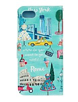 cheap -For Apple iPhone 7 7 Plus iphone 6s 6 Plus iphone SE 5s 5 The City View Pattern Flip PU Leather Case