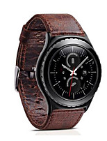 cheap -For Gear S3 Frontier Classic Strap Retro Genuine Leather Band With Closure Classic Design Replacement 22mm