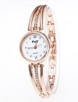 economico -Per donna Orologio braccialetto Cinese Quarzo imitazione diamante Orologio casual Lega Banda Di tendenza Oro