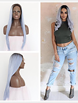 cheap -Synthetic Wig Straight Blue Lace Front Natural Wigs Short Medium Long Synthetic Hair