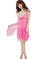 Women's Suits Nightwear,Sexy Lace Jacquard-Thin Nylon Spandex