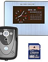 Mountainone 7 dvr цветной сенсорный экран видео домофон с системой внутренней связи pir record с ir camera 8g sd card