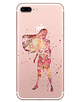 cheap -For Apple iPhone 7 7 Plus 6S 6 Plus Case Cover Cartoon Character Pattern TPU Material Phone Case