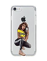 cheap -Case For Apple iPhone X iPhone 8 Transparent Pattern Back Cover Sexy Lady Soft TPU for iPhone X iPhone 8 Plus iPhone 8 iPhone 7 Plus