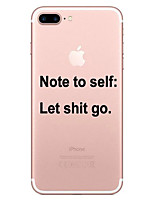 cheap -Case For Apple iPhone 8 iPhone 8 Plus Transparent Pattern Back Cover Word / Phrase Soft TPU for iPhone 8 Plus iPhone 8 iPhone 7 Plus