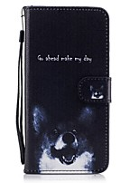 cheap -For Card Holder Wallet with Stand Flip Pattern Case Full Body Case Dog  Hard PU Leather for Apple iPhone 7 Plus iPhone 7 iPhone 6s Plus/6 5C 5G