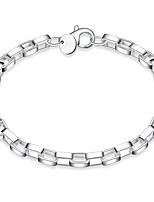 Men's Women's Bracelet Jewelry Fashion Classic Silver Plated Circle Geometric Jewelry For Stage Work