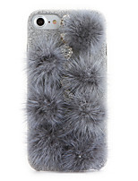 cheap -For Rhinestone DIY Case Back Cover Case Solid Color Mink Plush Frosted Case for Apple iPhone 7 Plus iPhone 7 iPhone 6s Plus/6 Plus iPhone 6s/6