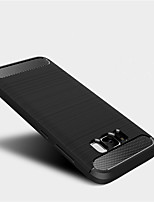 cheap -For Samsung Galaxy S8 Plus S8 Case Cover Shockproof Back Cover Solid Color Soft TPU S7 edge S7 S6 edge S6