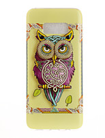 cheap -For Samsung Galaxy S8 Plus S8 Case Cover Owl Pattern HD Painted TPU Material IMD Process Phone Case S7 edge S7 S6 edge S6
