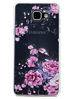 cheap -For Samsung Galaxy A3(2017) A5(2017) Flower Pattern Soft TPU Material Phone Case for A7(2017) A510 A310