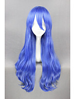 cheap -Synthetic Hair Wigs Curly Capless Cosplay Wig Short Blue