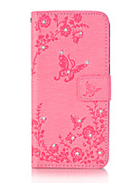 cheap -For Samsung Galaxy S8 Plus S8 Case Cover Butterfly Love Flowers Pattern Embossed Point Drill PU Material Phone Case S7 S6 (Edge) S7 S6 S5