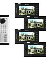 Actop 7 pouces couleur vidéo filé métal les meilleurs systèmes pour les bâtiments produit de sécurité