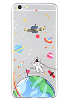 cheap -Case For Apple Pattern Back Cover Cartoon Soft TPU for iPhone 6s Plus iPhone 6s iPhone 6 Plus iPhone 6 iPhone SE/5s iPhone 5