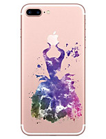 abordables -Para Transparente Diseños Funda Cubierta Trasera Funda Dibujos Suave TPU para AppleiPhone 7 Plus iPhone 7 iPhone 6s Plus iPhone 6 Plus
