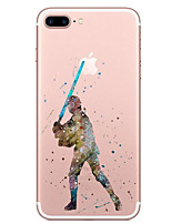 economico -Custodia Per Apple iPhone X / iPhone 8 Transparente / Fantasia / disegno Per retro Cartoni animati Morbido TPU per iPhone X / iPhone 8 Plus / iPhone 8