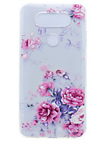 cheap -Case For LG K8 LG LG Nexus 5X LG K10 LG K7 Transparent Pattern Back Cover Flower Soft TPU for LG X Power LG V20 LG G6