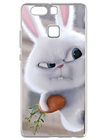 cheap -For Huawei P9 Pattern Case Back Cover Case Holding A Carrot Rabbit Soft TPU for  Huawei P9 / P9 Lite / P8 / P8 Lite