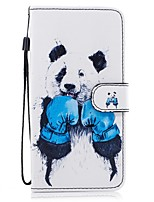 cheap -For Samsung Galaxy  S8 Plus S8 Card Holder Wallet with Stand Flip Pattern Case Full Body Case Panda Hard PU Leather S7 edge S7 S6 S5