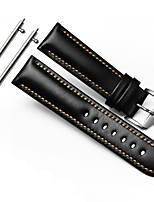 cheap -For Gear S3 Frontier Classic Strap WatchBand 22mm Genuine Leather Watchband With Secure Metal Clasp Buckle Man Watchband