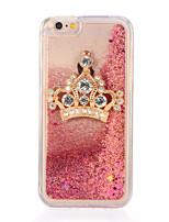 economico -Per Con diamantini Liquido a cascata Fai da te Custodia Custodia posteriore Custodia Glitterato Morbido TPU per AppleiPhone 7 Plus iPhone