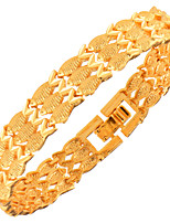 Men's Women's Chain Bracelet Jewelry Fashion Copper Gold Plated Geometric Animal Shape Jewelry For Party Special Occasion Anniversary