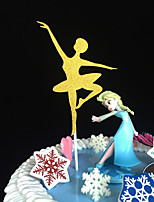 10pcs Dance Girl Wedding Cake Topper Party Decoration Baby Shower Paper Glitter Cake Topper Wedding Decoration