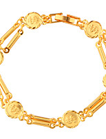 Homme Femme Chaînes & Bracelets Bijoux Mode Or Cuivre Plaqué or Forme de Lettres Bijoux Pour Mariage Soirée Occasion spéciale