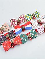 cheap -Dog Tie/Bow Tie Dog Clothes Cute Flower Rainbow