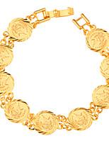 Homens Mulheres Pulseiras em Correntes e Ligações Jóias Moda Chapeado Dourado Forma Geométrica Jóias Para Festa Ocasião Especial
