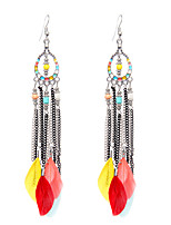 Women's Drop Earrings Jewelry Vintage Cute Style Euramerican Stretch Luxury Elegant Durable Feather Wings / Feather Jewelry For Wedding