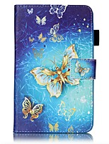 cheap -Case For Samsung Galaxy Tab A 7.0 (2016) Card Holder Wallet with Stand Pattern Auto Sleep/Wake Up Full Body Cases Butterfly Hard PU