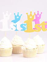Decorazioni torte Non personalizzate Carta Anniversario Nascita bambino Compleanno Design intagliato Classico OPP